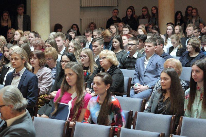 Latvijas skolēnu 42. zinātniskās pētniecības darbu konferences atklāšana. null
